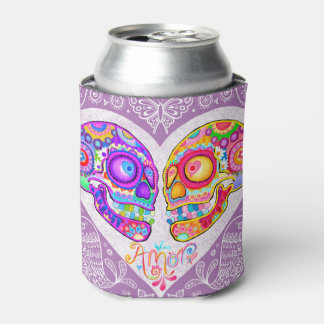 Sugar Skulls Can Cooler - Day of the Dead