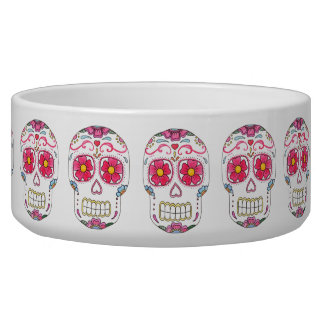 Sugar Skulls Ceramic Pet Bowl