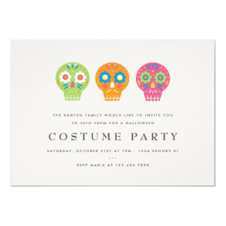 Sugar Skulls Costume Party Card