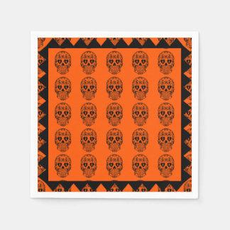 Sugar skulls,Day of the Dead napkins Paper Napkins