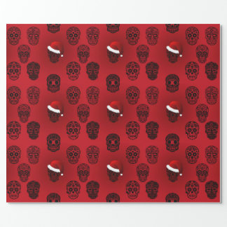 Sugar Skulls Goth Holiday Wrapping Paper