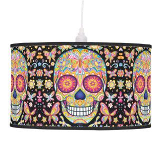 Sugar Skulls Hanging Pendant Lamp