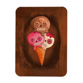 Sugar Skulls Ice Cream Rectangular Magnets
