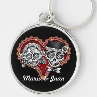 Sugar Skulls Keychain - Customize w/your names!