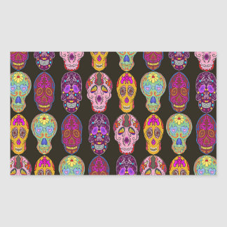 Sugar Skulls Pattern in 5 Different Styles Sticker