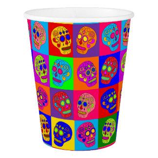 Sugar Skulls Squares Paper Cup