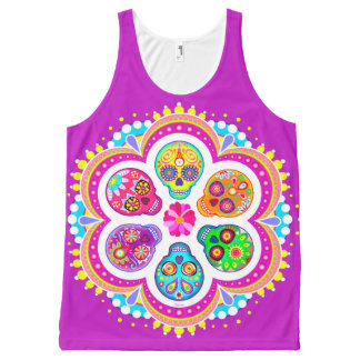 Sugar Skulls Tank Top - Day of the Dead Tank Top