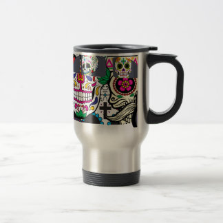 Sugar Skulls Watching You Travel Mug