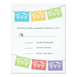 Sugar Skulls Wedding Banners RSVP Card