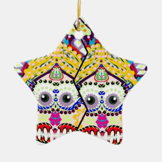 Sugar Smiling Day Of the Dead Twins Ceramic Star Ornament