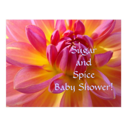 Sugar & Spice Baby Shower! It's a Girl invitations