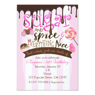 SUGAR SPICE EVERYTHING NICE Party Invitations