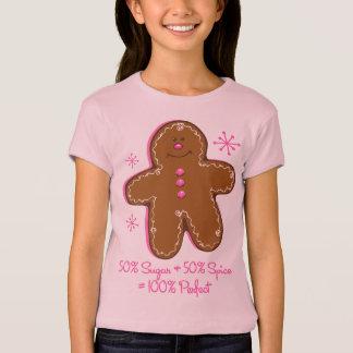 Sugar & Spice Gingerbread Girl's Baby Doll Tee