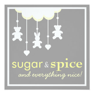 Sugar & Spice Neutral Baby Shower Invitation