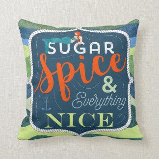 sugar spice nice pillow, decor home, mermaid throw pillow