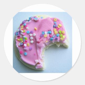 Sugar sprinkle cookie classic round sticker