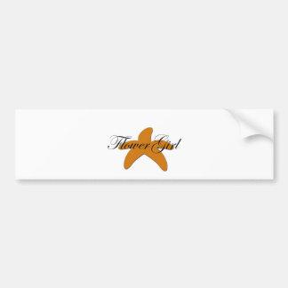 Sugar Starfish Flower Girl Bumper Stickers