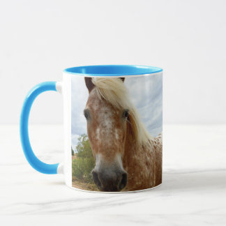 Sugar The Appaloosa Horse, Blue Combo Coffee Mug