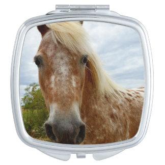 Sugar The Appaloosa Horse, Compact Mirror. Mirror For Makeup