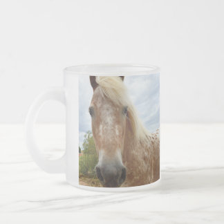 Sugar The Appaloosa Horse, Frosted Beer Mug