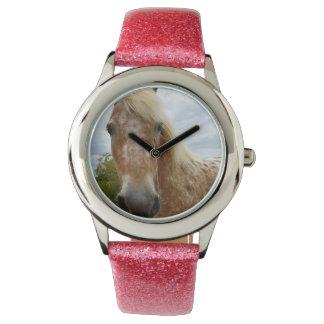 Sugar The Appaloosa Horse Girls Glitter Watch