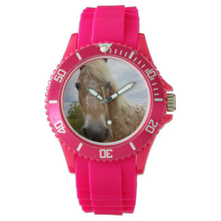 Sugar The Appaloosa Horse Ladies Pink Sport Watch