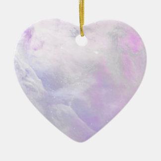 SugarBaby Cosmos Pastel Space Art Ceramic Heart Ornament