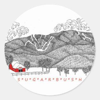 Sugarbush Vermont Classic Round Sticker