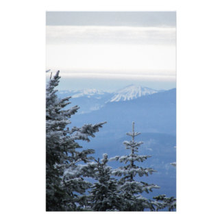 Sugarloaf Mountain on the Horizon in Maine Stationery