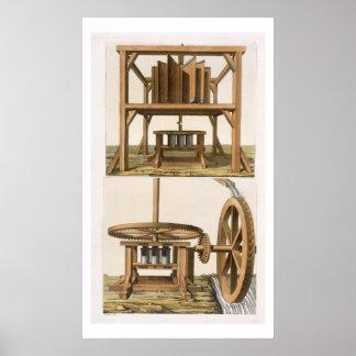 Sugarmills, Antilles (colour engraving) Poster