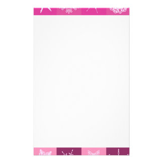 Sugarplum Pink Snowflakes Collection Christmas Custom Stationery