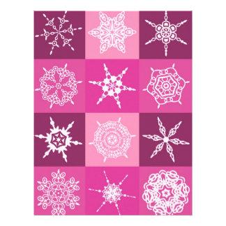 Sugarplum Snowflake Collection Designer Letterhead Template