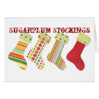 Sugarplum Stockings Card