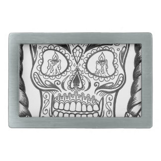 Sugarskull Tattoo Art By Sweetpieart Belt Buckle