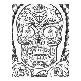 Sugarskull Tattoo Art By Sweetpieart Letterhead