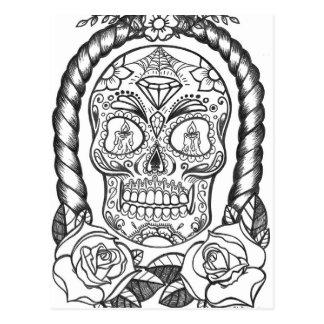 Sugarskull Tattoo Art By Sweetpieart Postcard