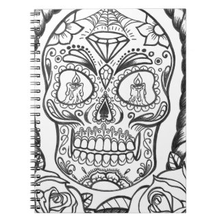 Sugarskull Tattoo Art By Sweetpieart Spiral Notebook