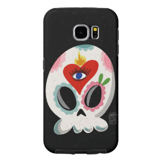SugarSkull Third Eye color Samsung Galaxy S6 Cases