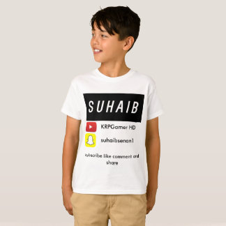 Suhaib's youtube t-shirt