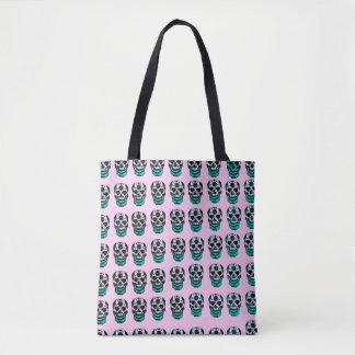 Suhar Skulls in Pink Tote Bag