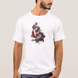 Sui Riu Japanese Dragon Katana T-Shirt