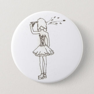 Suicidal Girl 3 Inch Round Button