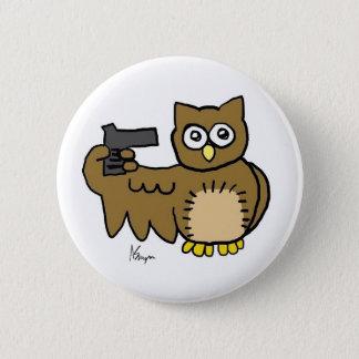 Suicidal Owl Button