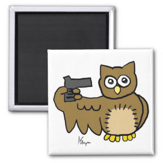 Suicidal Owl Magnet