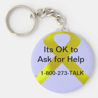 Suicide Awareness Help Keychain