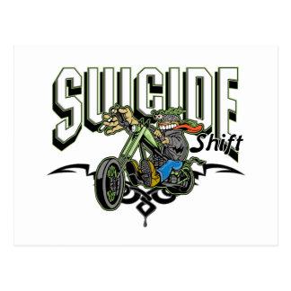 Suicide Biker Postcard