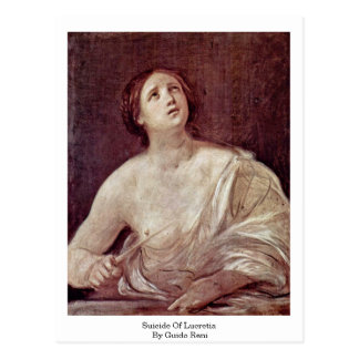 Suicide Of Lucretia By Guido Reni Postcard