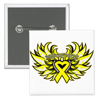 Suicide Prevention Awareness Heart Wings.png 2 Inch Square Button