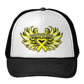 Suicide Prevention Awareness Heart Wings.png Mesh Hat