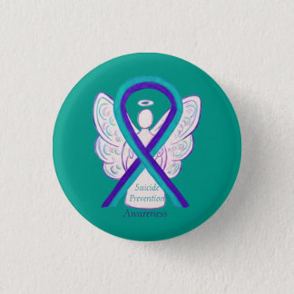 Suicide Prevention Awareness Ribbon Angel Pins
